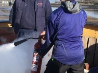 Volunteers Fire Safety Training on board ship 5th Feb 2020