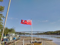 SS Freshspring now flies her National Historic Ships ensign