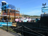 Royal Fleet Auxiliary Association Plymouth branch visit to SS Freshspring on 4th July