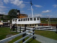 Celebratory steaming event on the River Weaver aboard Daniel Adamson on Friday 17th May 2019
