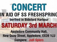 Concert in aid of SS Freshspring on Saturday 3rd March 2018