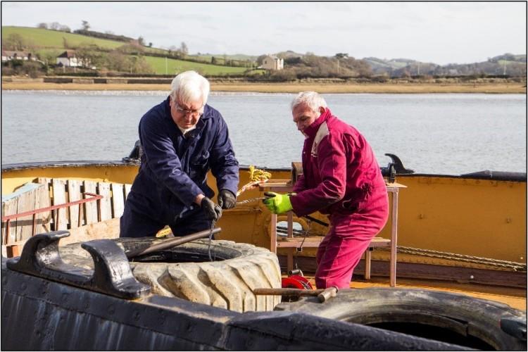 Volunteers at Work Forward deck
