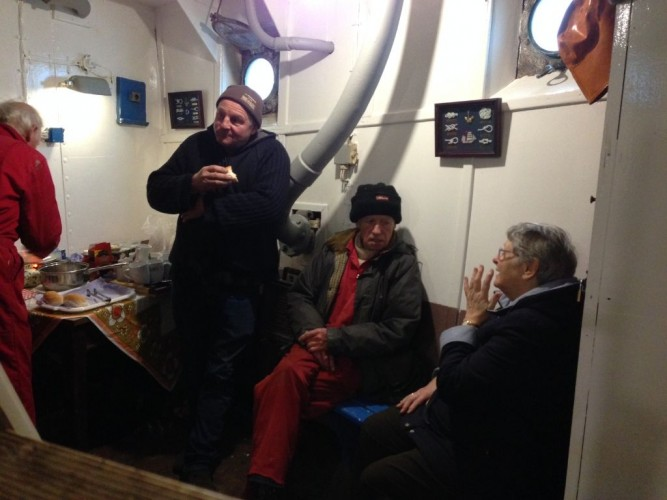 Ship Volunteers having a well earned cuppa