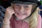Learning - girl in cap