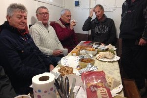 Ship Volunteers in the Galley relaxing after a hard day on deck